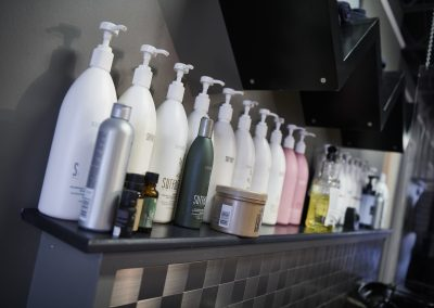 Hair products on the rack